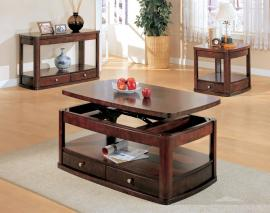 Benicia Collection 700248 Lift Top Storage Coffee Table Set