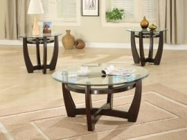Susanvillle Collection 700295 Glass Top Coffee Table Set
