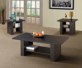 Key West Collection 700345 Black Coffee Table Set