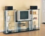 Santa Clara Collection 7535 Glass Metal Wall Unit