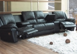 Expression Collection 7575SEC Black Leather Theater Seating