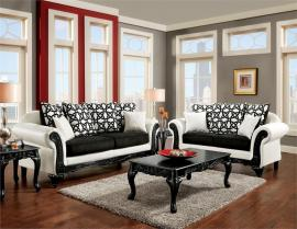 Dolphy Collection Carved Wood Trim Sofa & Loveseat Set