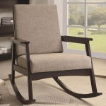 Hershal Collection 902074 Cappuccino Padded Rocking Chair
