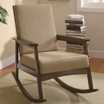 Hershal Collection 902075 Walnut Padded Rocking Chair