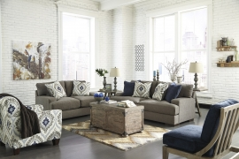 Carlino Collection Mineral Sofa & Loveseat Set