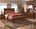 Ellenton Collection B178 Cherry Sleigh Bedroom Set