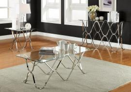 Vador Collection CM4229 Chrome Coffee Table Set