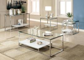 Vendi Collection CM4231WH Coffee Table Set
