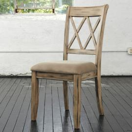 Mestler D540-102 Antique White Dining Chair Set of 2