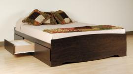 Espresso Queen Platform Storage Bed (6-drawers) EBQ6200