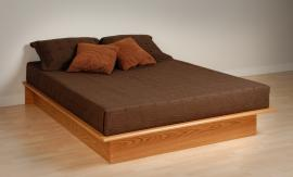 Oak Queen Platform  Bed OBQ6080