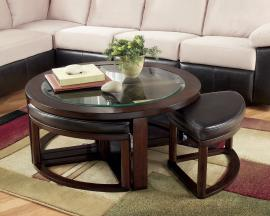 Marion Round Coffee Table with Stools