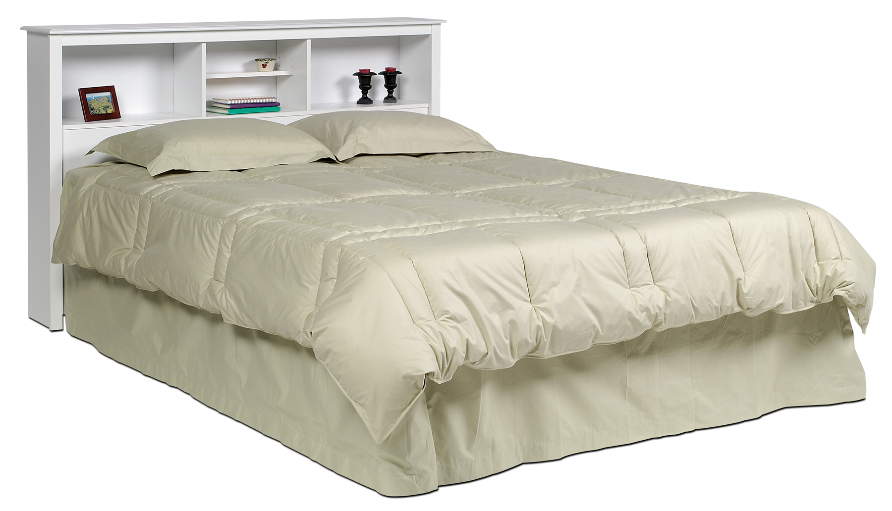 Picture of: Prepac White Full Queen Bookcase Headboard Wsh6643 Furniture Outlet Mor Jeromes Furniture Warehouse