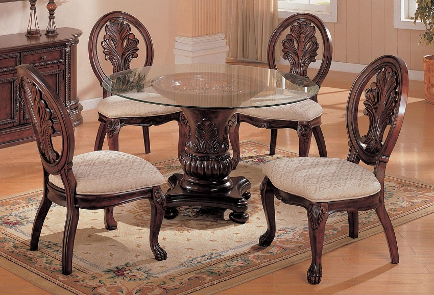 Glass Top Formal Dining Set Cerritos Glass Top Formal Dining Set Orange County