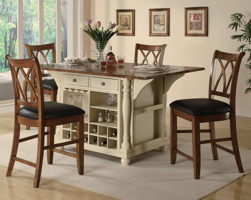 Dining Table Chairs Set Cheap buttermilk collection 102271 counter height dining table set
