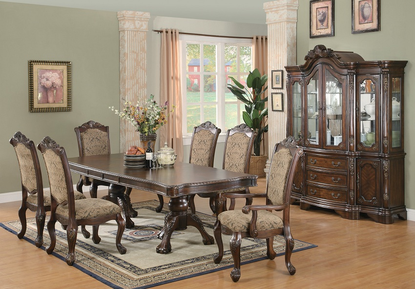 slider 0 & Andrea Collection 103111 Formal Dining Table Set coaster furniture ...