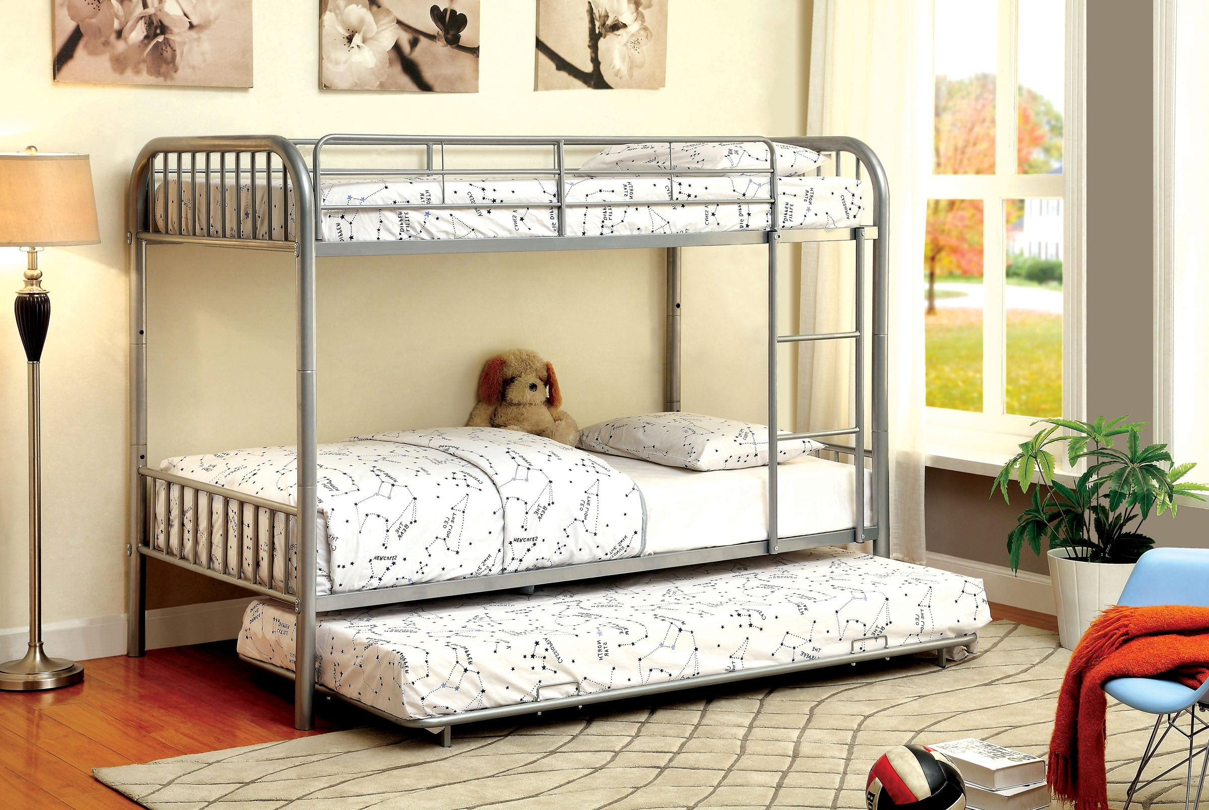 silver 1035sv twin twin trundle bunk bed. Black Bedroom Furniture Sets. Home Design Ideas