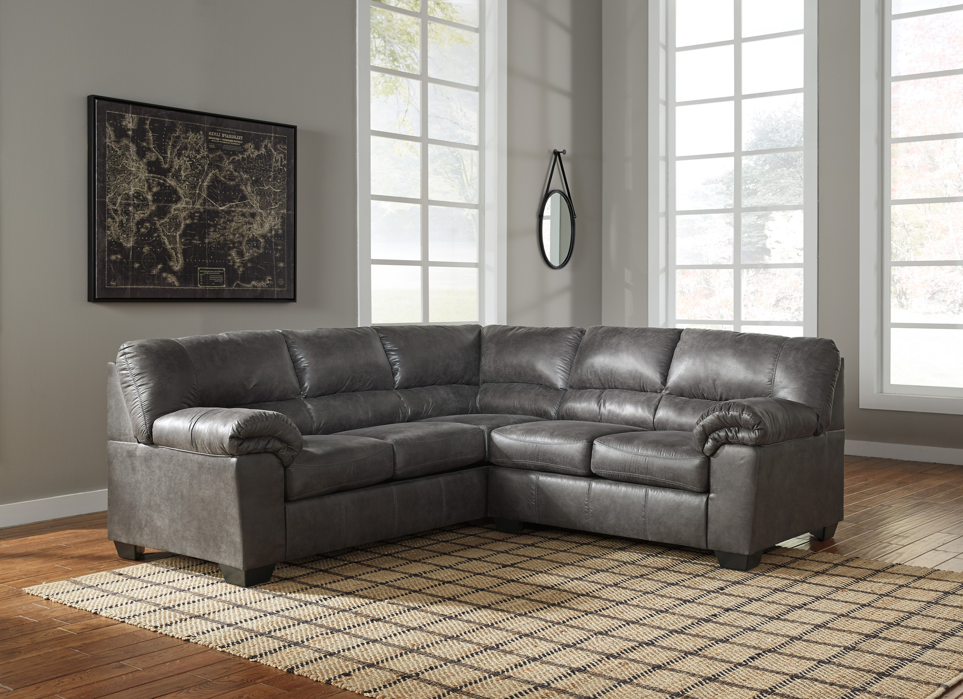 Bladen 56 by Ashley Sofa Sectional Contemporary Design Gray