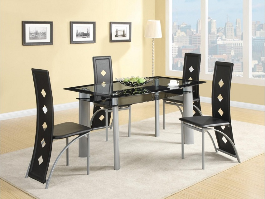 Fontana Collection 121051 Contemporary Dining Table Set. Collection 121051 Contemporary Dining Table Set