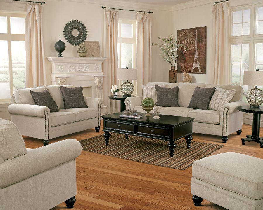 Ashley Furniture Milari 1300038 Sofa Set In Linen With