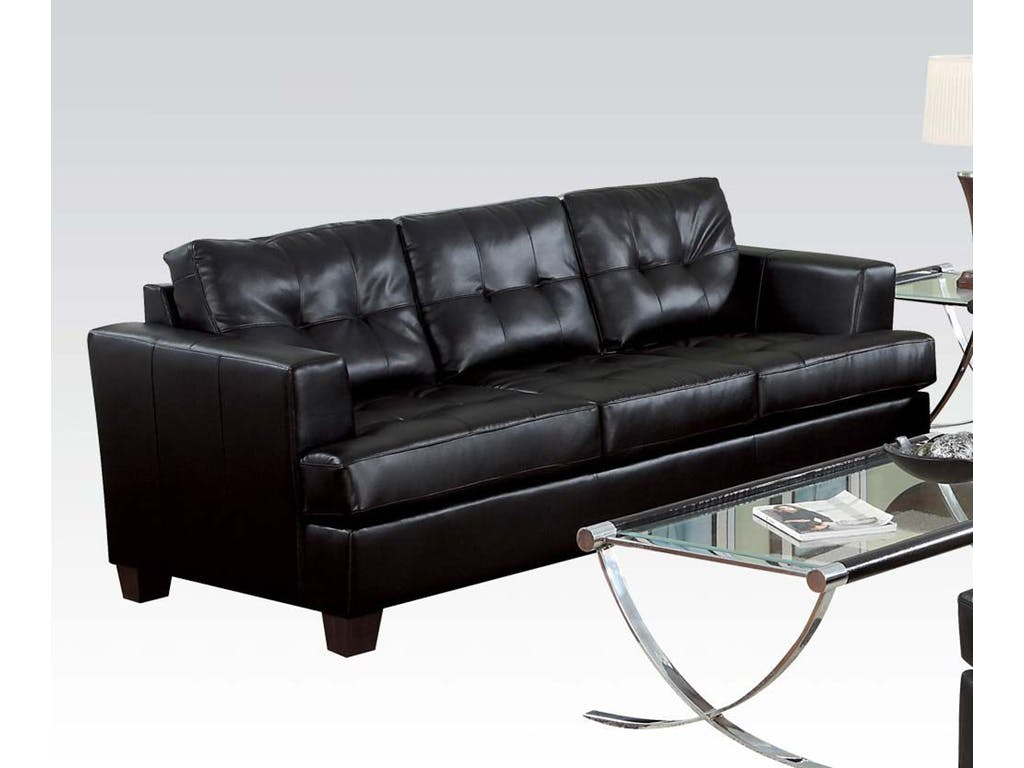 Platinum 15090 By Acme Black Bonded Leather Sofa