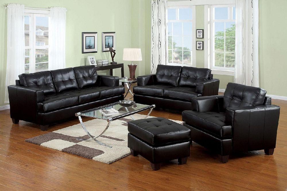 platinum 15090 by acme black bonded leather sofa loveseat set 68999. beautiful ideas. Home Design Ideas