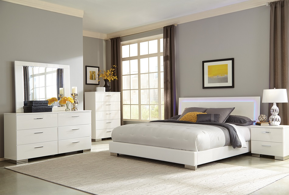 Coaster furniture Felicity 203500 whitemodern Bedroom Set