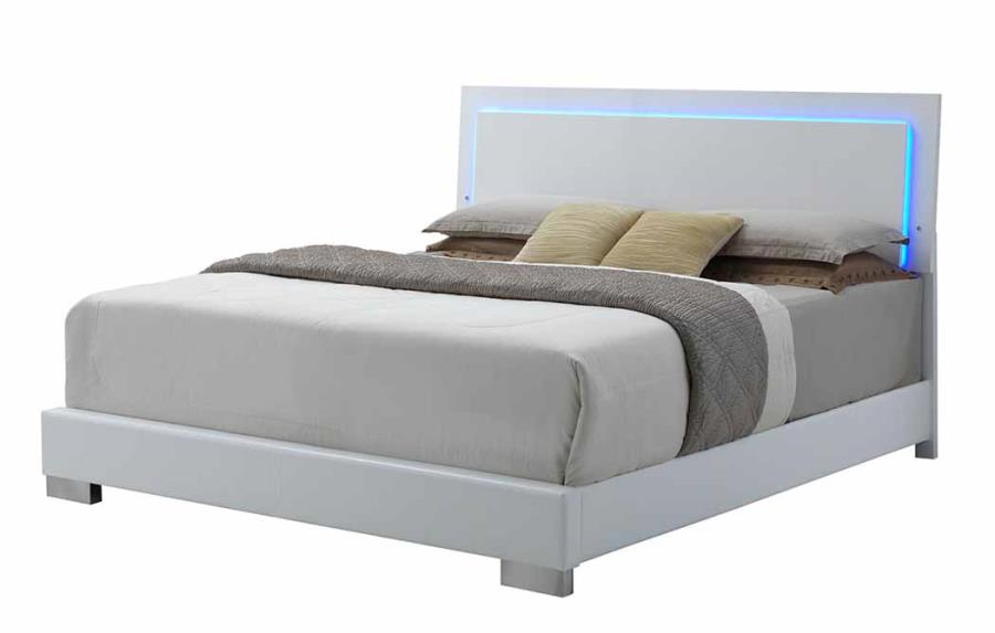 felicity collection 203500q queen bed frame