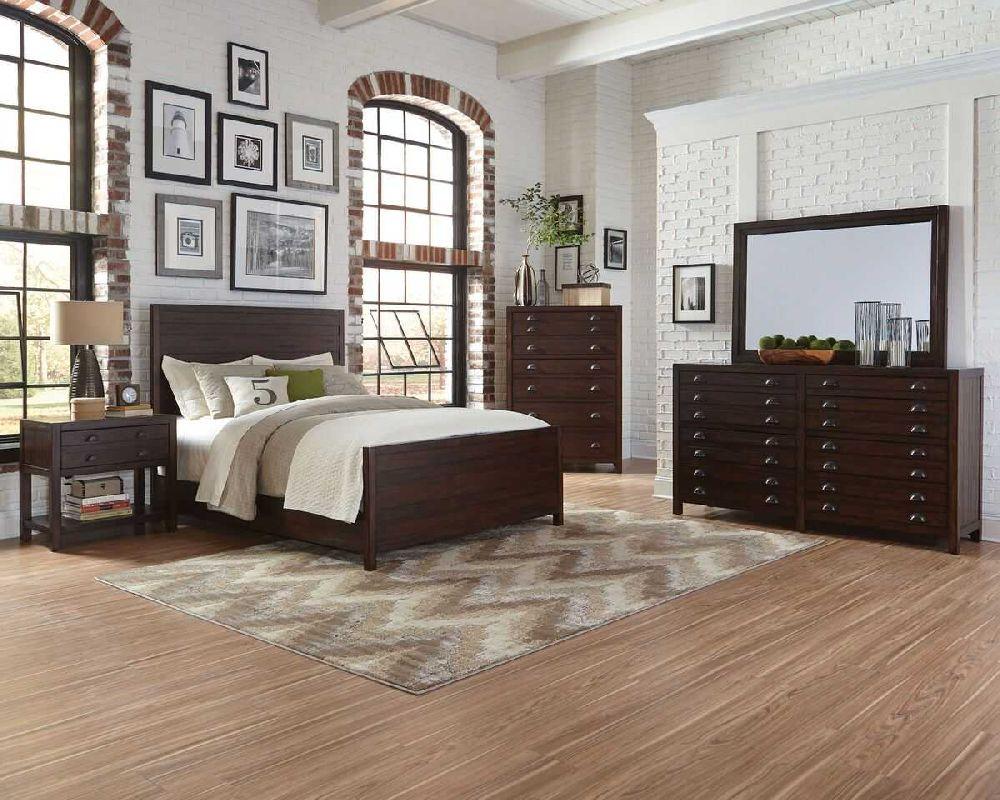 Donny Osmond Home Lanchester 204291 Modern Vintage Panel Bedroom Set