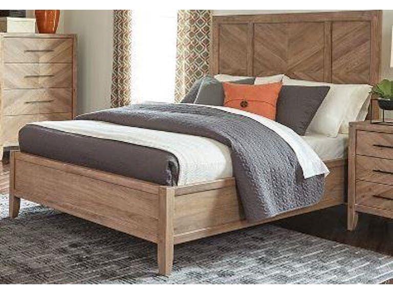 Scott Living Auburn 204611ke White Washed Natural King Bed