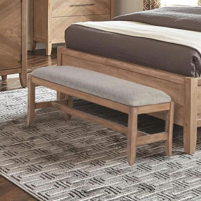 Coaster Scott Living 204616 Auburn White Washed Grey Bench
