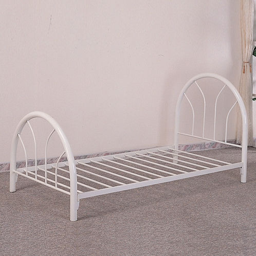 kendall collecton white 2389w twin metal bed