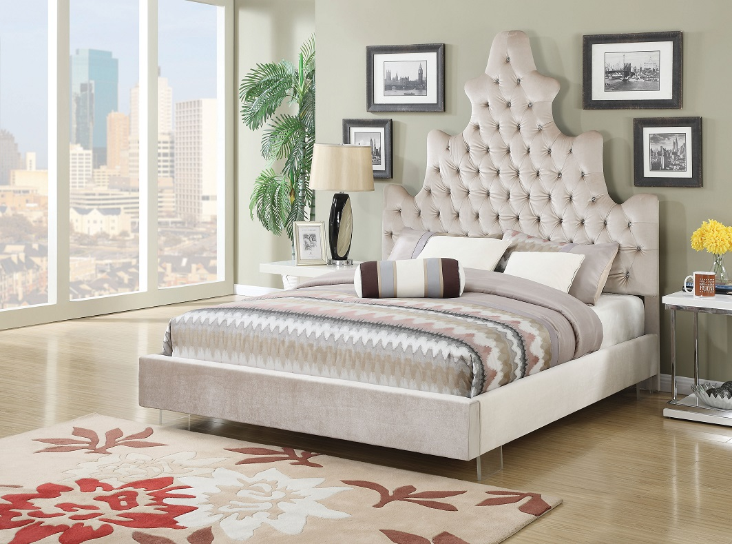 Acme Furniture 25030 Jewel Tufted Queen Bed Frame