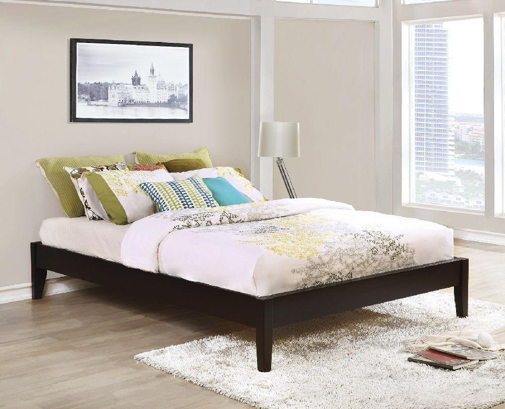 hounslow 300555ke eastern king cappuccino platform bed frame - Eastern King Bed Frame
