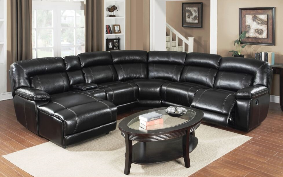 Paramount Collection Black Reclining Sectional & E motion black reclining sectional sofa with chaise and console ... islam-shia.org