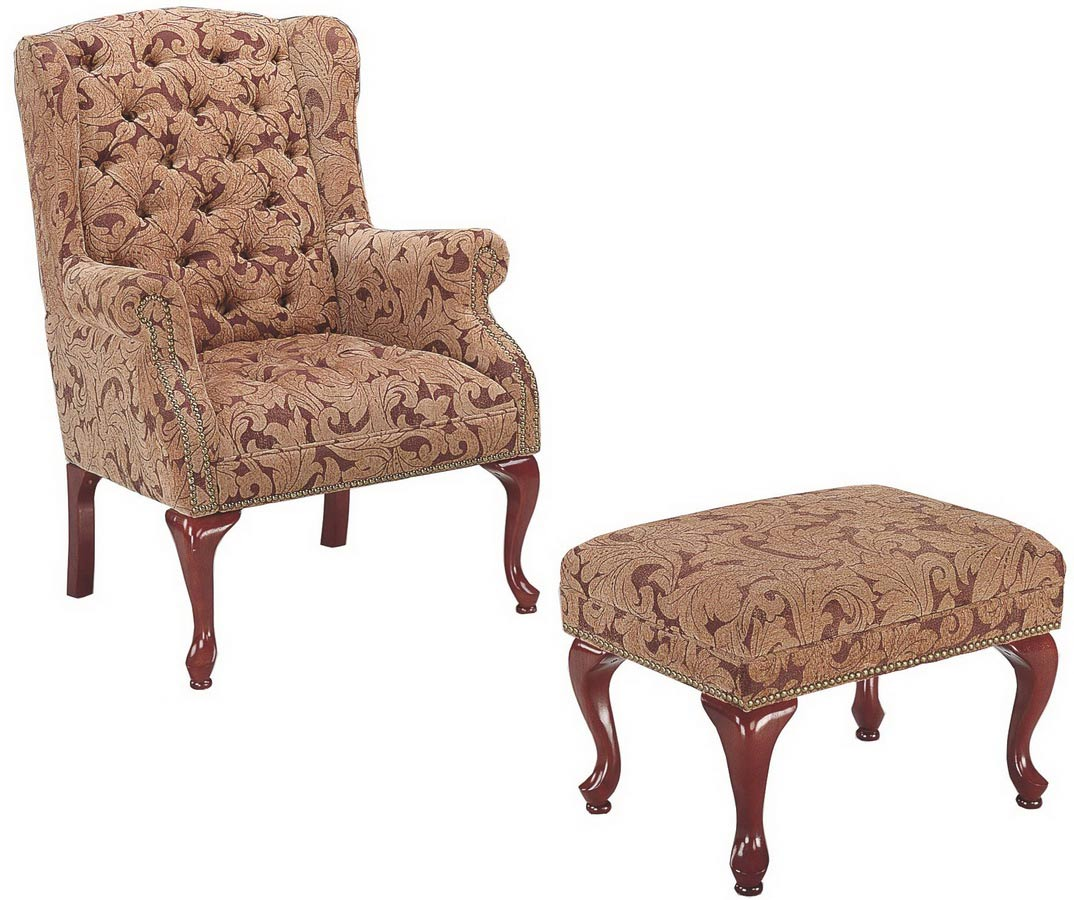 Wing chair with ottoman - Wing Chair Collection 3932b Accent Chair Ottoman