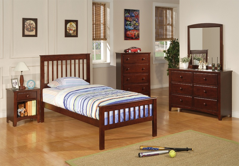 Parker Collection 400290 Youth Twin Bedroom Set