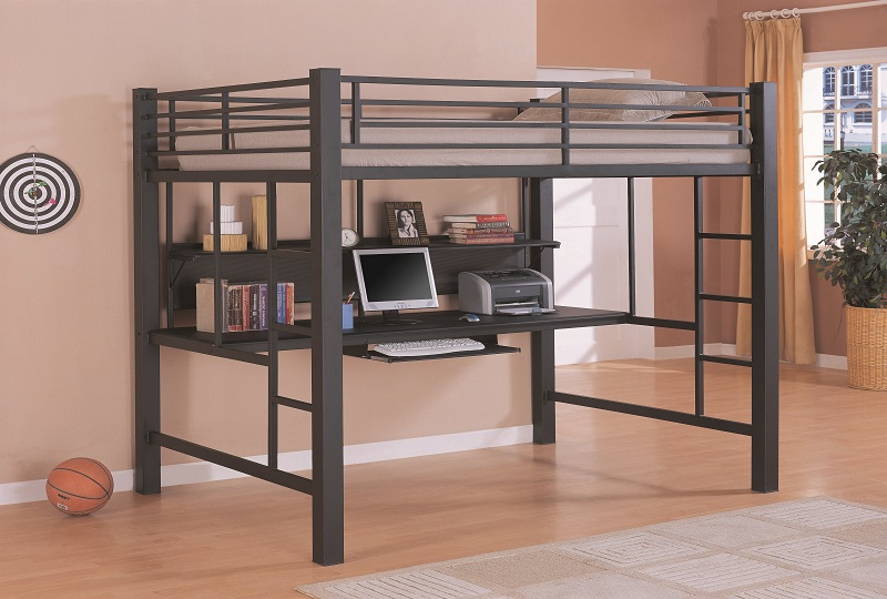 Furniture Outlet Workstation Desk Full Loft Bed Metal