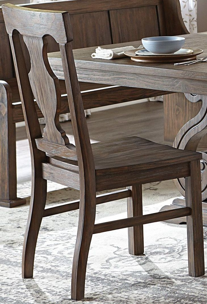 Toulon By Homelegance Oak Finish Dining Side Chair 5438s
