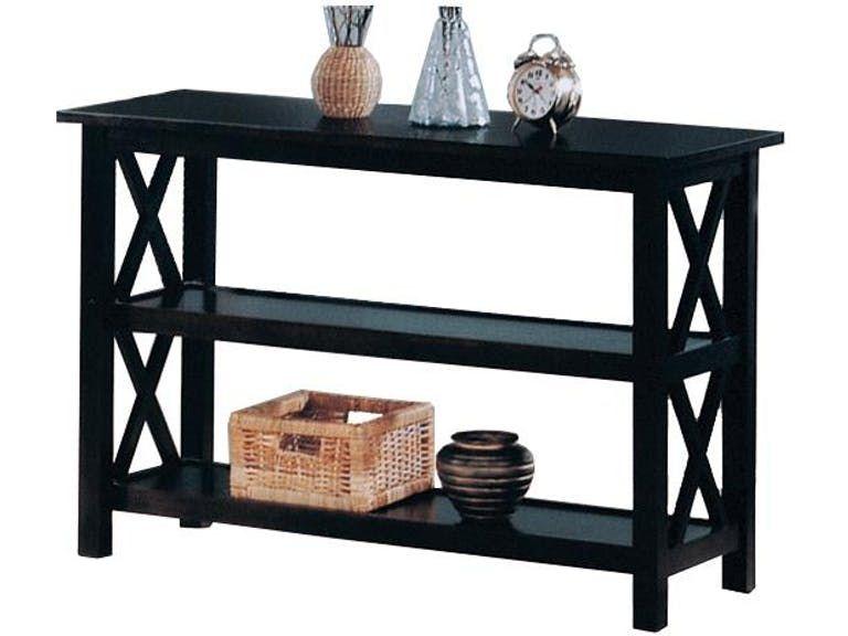 Coaster 5910 Cappuccino X Design Multiple Shelf Sofa Table