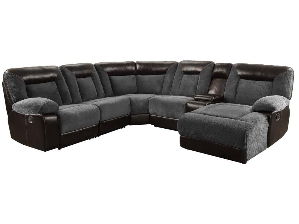 Two Tone Sectional With Chaise 600090
