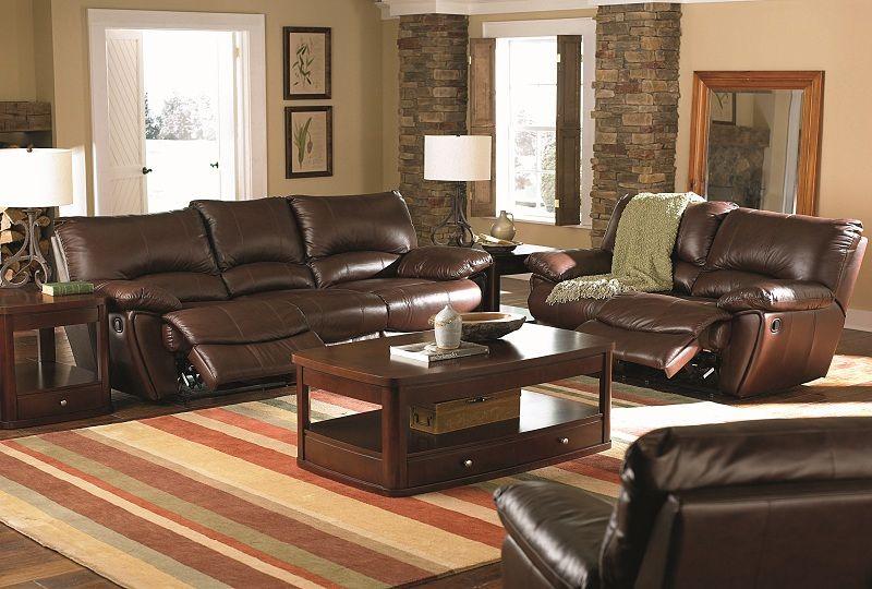 Enjoyable Dawson Collection 600281 Brown Reclining Sofa Loveseat Set Dailytribune Chair Design For Home Dailytribuneorg