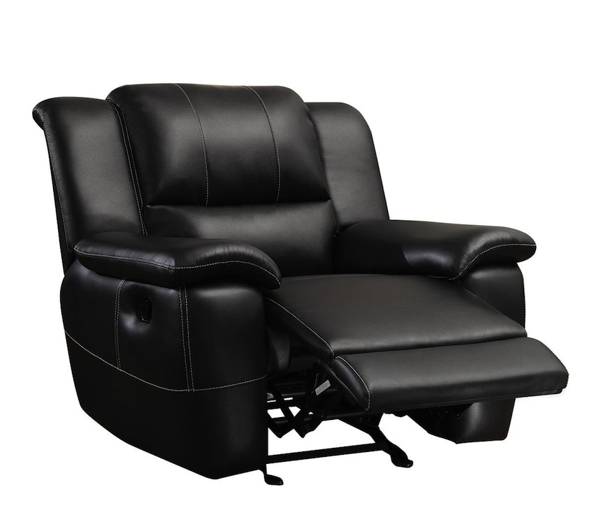 Lee Collection 601063 Black Glider Recliner