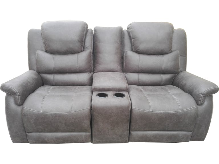 Incredible Wyatt By Coaster 602452 Grey Coated Microfiber Fabric Reclining Loveseat Gmtry Best Dining Table And Chair Ideas Images Gmtryco