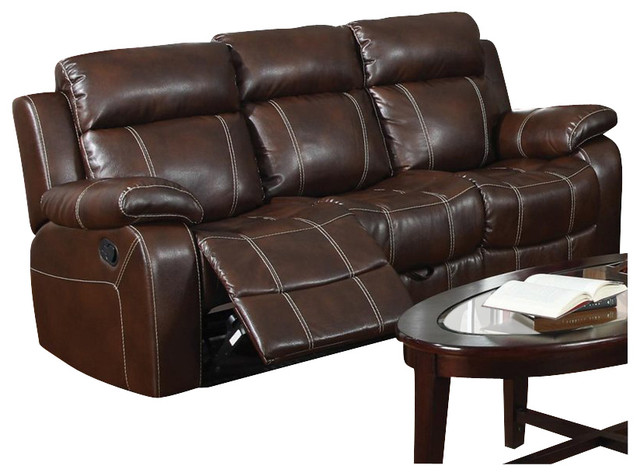 Myleene collection 603021 coaster furniture bonded leather Baseball sofa