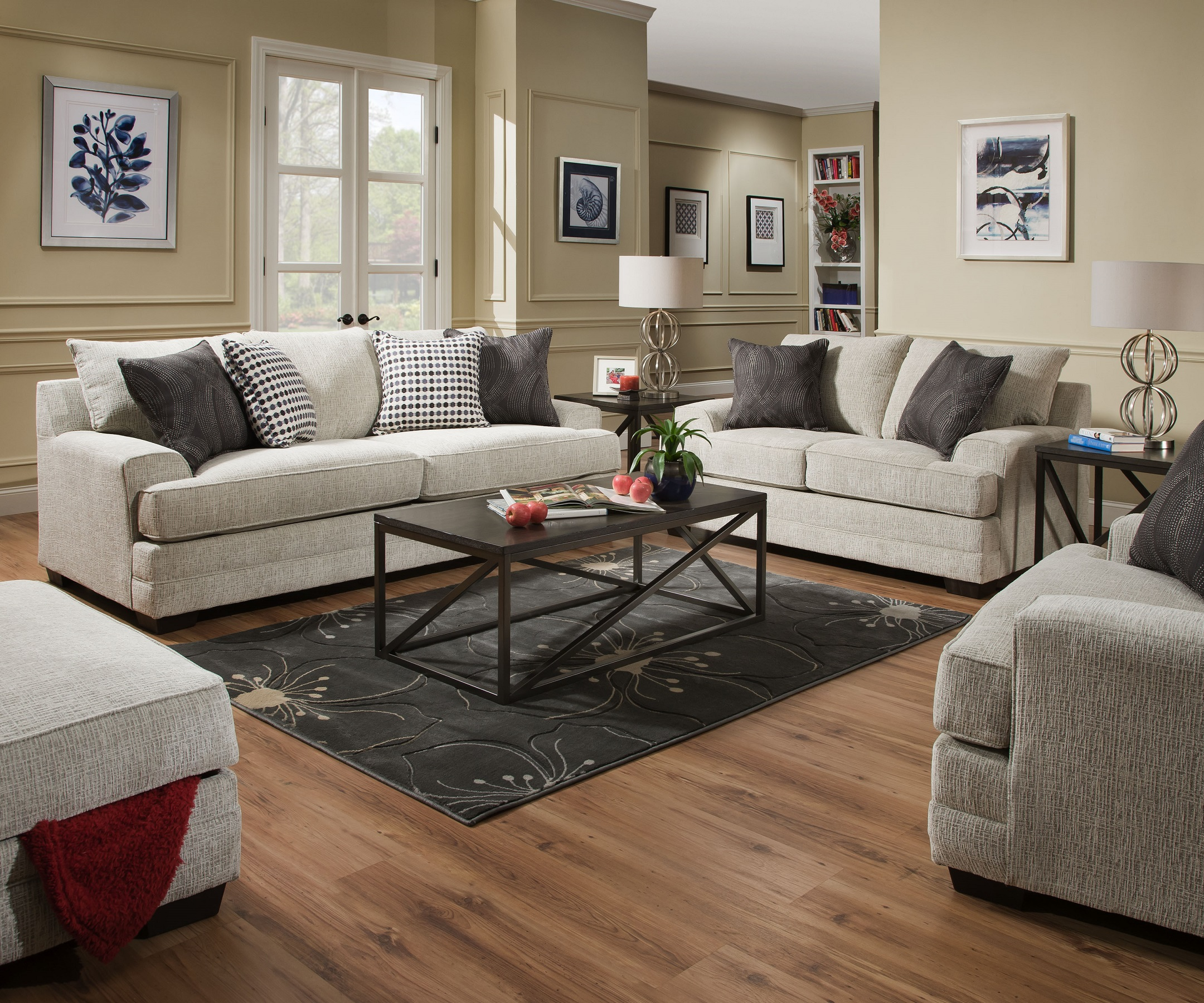 Dillon 6548 Beautyrest Pocketed Coil Seating Sofa U0026 Loveseat