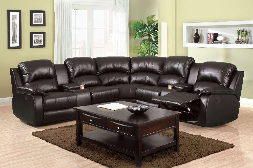 Furniture Of America Aberdeen 6557bp Black Reclining