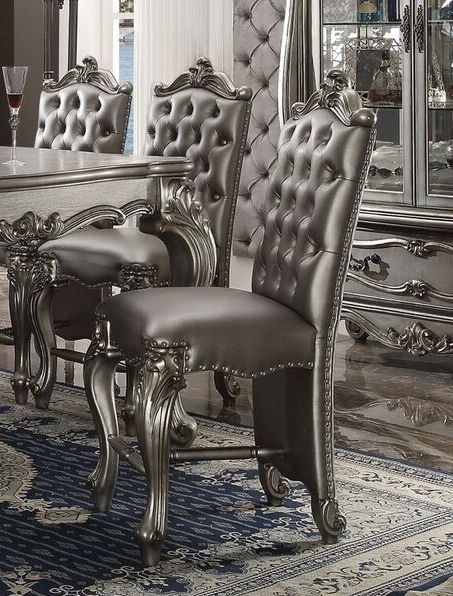 Versailles By Acme 66837 Counter Height Chair Set Of 2