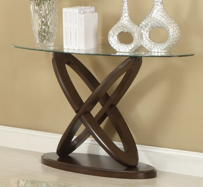 Tremendous Coaster 702789 Interlocking Oval Glass Top Sofa Table Alphanode Cool Chair Designs And Ideas Alphanodeonline