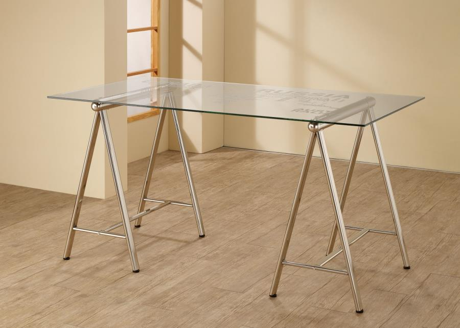 Coaster 801504 sawhorse writing desk with glass top with world map slider 0 gumiabroncs Image collections